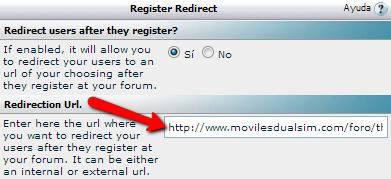 redirigir usuario registrado