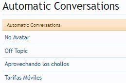 conversaciones automaticas addon